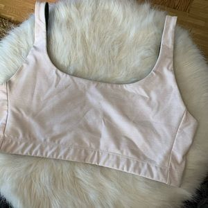 OUTDOOR VOICES Double Time Sports Bra Light Pink L